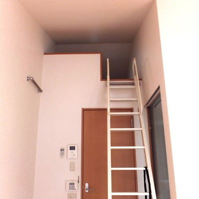 上る時ははしごをこの位置に移動させよう!