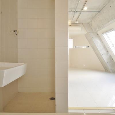 だけど、洗面台と洗濯機置き場と一体してます。※写真は前回掲載時のものです。