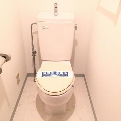 トイレは個室が嬉しい!ウォシュレットはついてません。