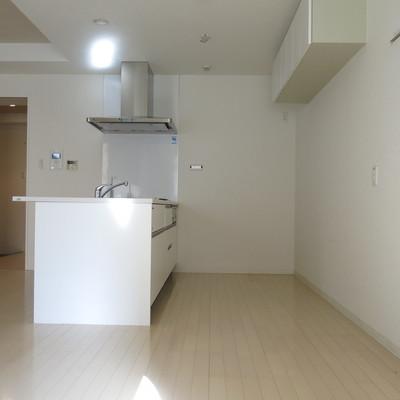 キッチンうしろのスペースも余裕たっぷり!
