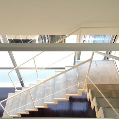 階段を上からぱしゃり