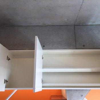 中階の上部には靴が収納できます。※写真は前回募集時のものです