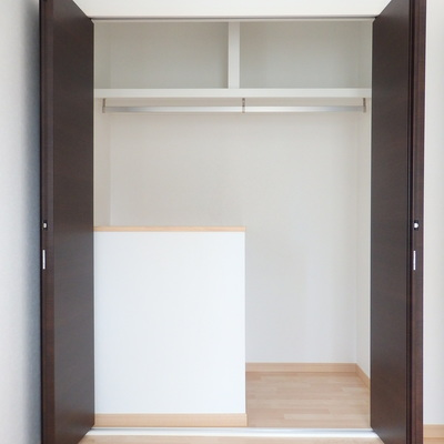 5.3帖の洋室のクローゼットは特に大きめ。