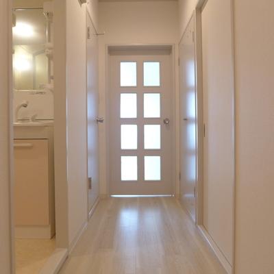 廊下に光が柔らかく透ける感じ、いいですよね