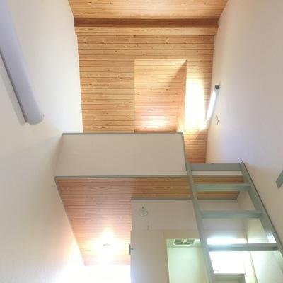 高い天井の開放感