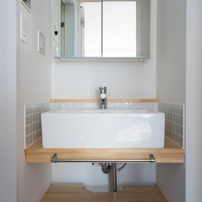 洗面台はTOMOSオリジナル♪※前回募集時の写真です