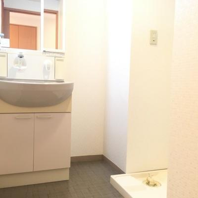 洗面台と洗濯機置場です!