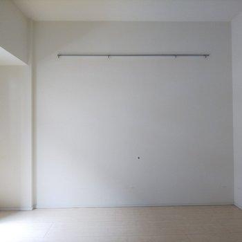 壁面にフックが付いているのに注目です!