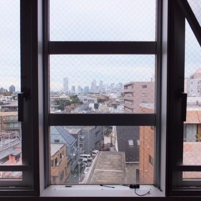 角部屋なので2面採光。こちらの窓からは新宿が見えます