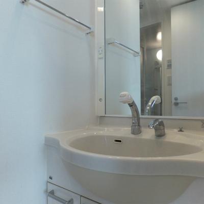 独立洗面台も広くて使いやすいのがうれしい。※写真は別部屋