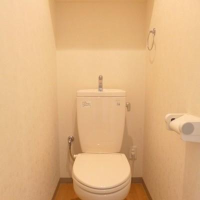 トイレは棚付きです♪