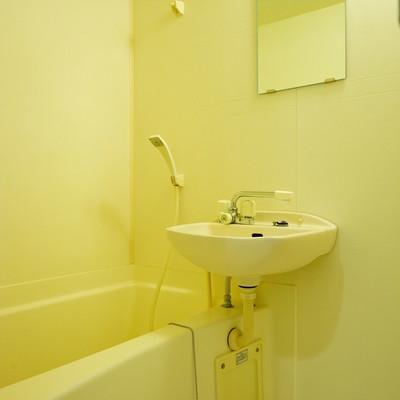 お風呂は洗面台と併設です。