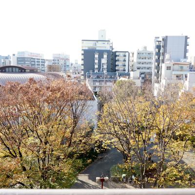 阪急乗り場が微かに見えてます