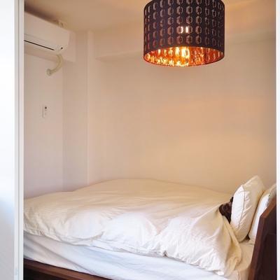 寝室はコンパクトにまとめました。※写真はイメージ
