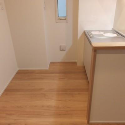 キッチン後ろの空間もばっちりひろい!