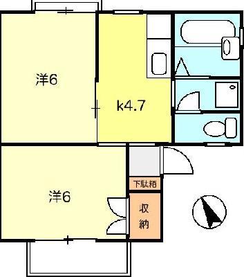 ひばりケ丘8分アパート の間取り