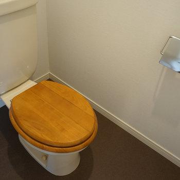 トイレは便座を木製に◎※写真は前回募集時のものです