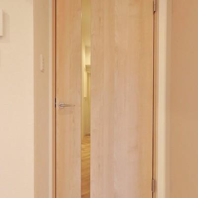 リビングの扉はスッと一筋のデザイン性。
