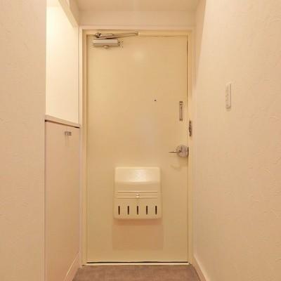 玄関はマットが敷いてあります。
