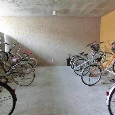 裏の自転車置き場