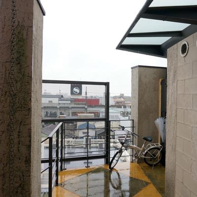 共用部は室外になっちゃうんで雨の日は注意