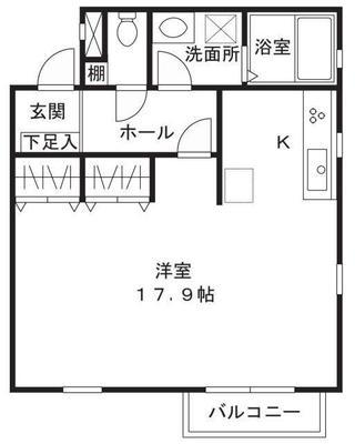 武蔵新城5分アパート の間取り