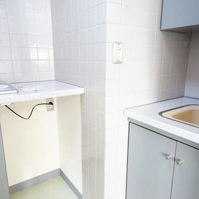 キッチンがとっても変わった形。