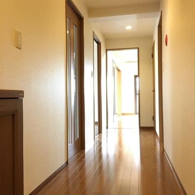 玄関から。長い廊下!