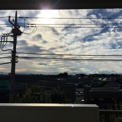 狛江の空。