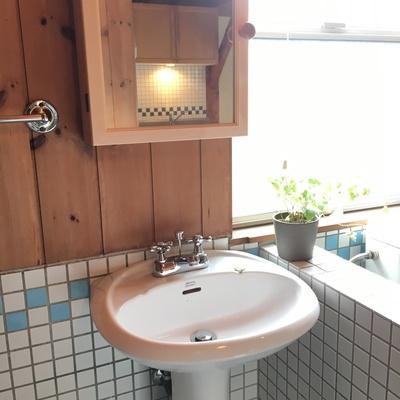 3点ユニット革命!洗面台はコンパクト。※写真は別部屋