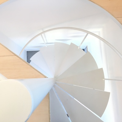 螺旋階段も俯瞰