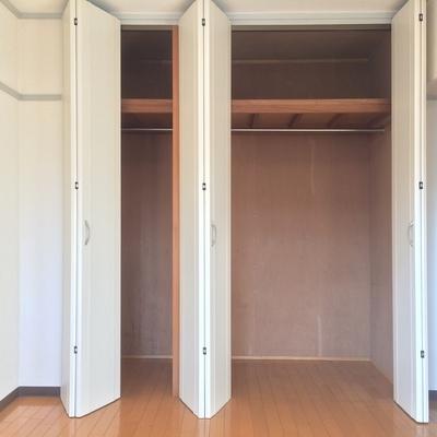 洋室にある大きめクローゼット
