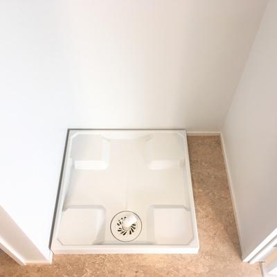 洗濯機置場です!