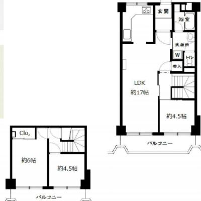 3階と2階の2階建てです