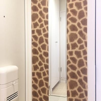 お、おお。。キリンのように長い鏡ってことかな。。?