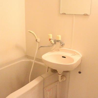 洗面台は浴室内に