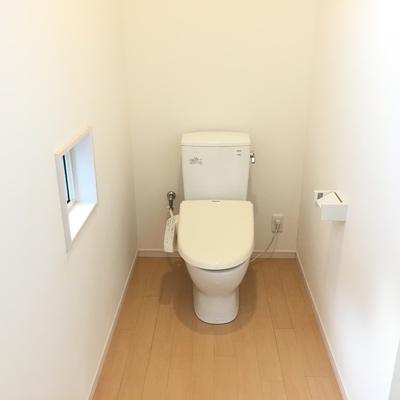 トイレの空間。開放的。