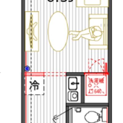 水回りと収納が集約され居室は最大限に使える間取りに