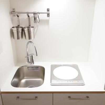 キッチンはコンパクトな1口IHです。※写真は前回募集時のものです
