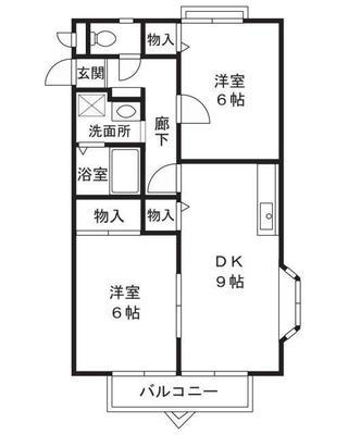 武蔵新城6分アパート の間取り