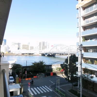 海が見える〜!!