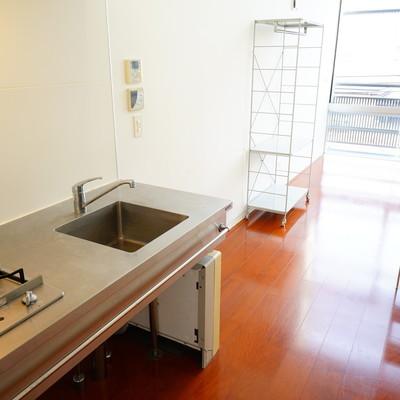 キッチンはステンレスで2口ガスです。