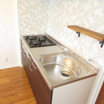 キッチンも小さな可愛さがあり、また機能性も十分!