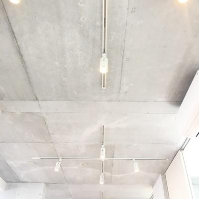 天井の照明のシンメトリーな感じがカッコいいです