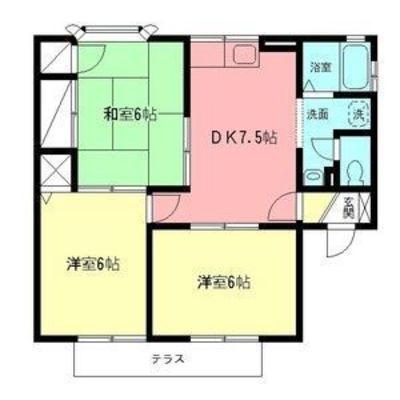 香川14分アパート の間取り