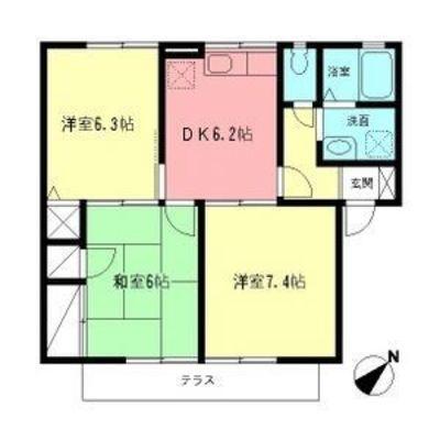 橋本8分アパート の間取り