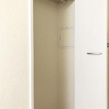 シーズン物の洋服が収納できますね。※写真は2階の同間取り別部屋のものです