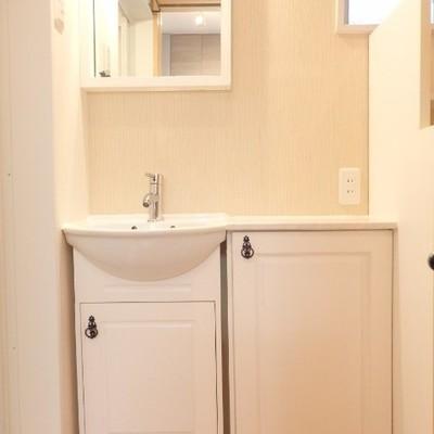 洗面台がまたまた可愛らしい!