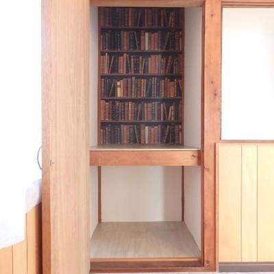 2階の洋室の収納は本柄!