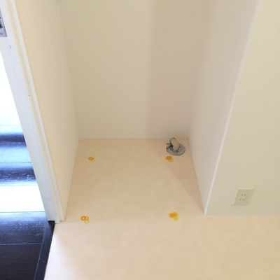 洗濯機置場はトイレ、洗面台の脱衣所スペースにあります。※写真は前回募集時のものです